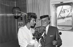 Eleanor and Buster aboard the Italian liner Michelangelo July 15,1965. Buster is going to Naples for a film.