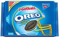 I am not sure if I bought these because they are oreos or they are football shaped. Either way-football season is upon us and this is a perfect snack!