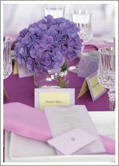Table setting colors for formal ceremony, Saturday, May 25, 2013.