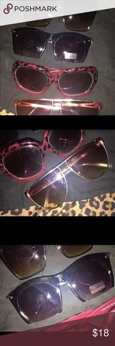 Cute sunglasses - only selling together Selling all of them together. Offers welcome Accessories Sunglasses