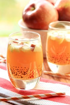 This Non Alcoholic Apple Pie Punch is the perfect virgin drink for fall and thanksgiving! Strain the apples and it is a kid-friendly punch too!