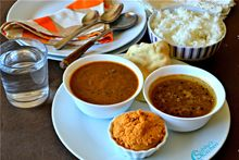 Dosa Republic Restaurant offers delicious South Indian Rasam Applam in Sector 21 Gurgaon. Restaurant Offers, Lunch Menu, Indian, Places, Lugares