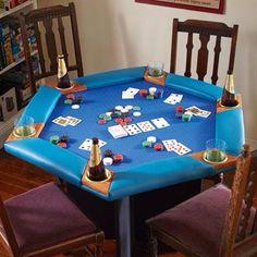 Kestell furniture 52 pedestal base poker table upholstery for Pottery barn poker table