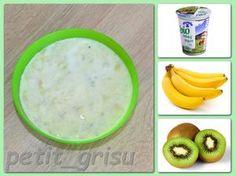 Jogurt s banánem a kiwi (11m) Kiwi, Oatmeal, Breakfast, Food, The Oatmeal, Morning Coffee, Rolled Oats, Essen, Meals