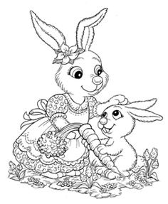 Lapins 1 Easter ColouringKids ColoringColoring