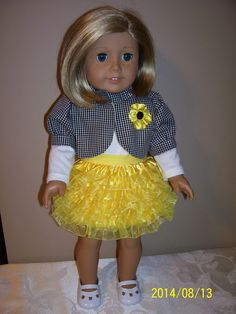 Yellow lace skirt, white top and black/white checked lined jacket. (McCalls 6480) 2014        SOLD