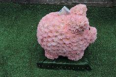 Piggy bank funeral flowers