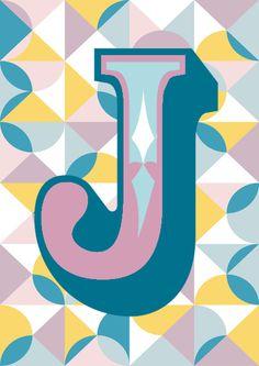 Letter J Art Print By Forhumourandhope