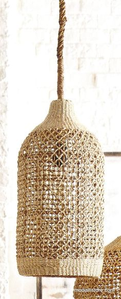 Roost Basket Cloche Lamp   Roost Pendant Lamps – Modish Store
