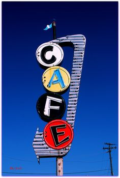 Bill Smith's Cafe sign, McKinney, Texas - by Vanishing America, Don Lewis