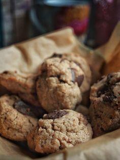 Dinkel Tahini Kekse mit Schokolade