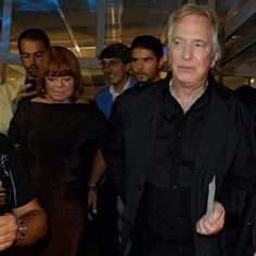 Alan Rickman Wife | Date Unknown - Alan Rickman and Rima Horton step out at an unknown ...