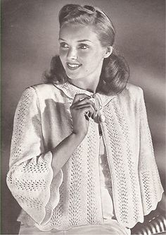 Knitting Pattern For Bed Shawl : 1000+ images about  Bed Jackets so pretty  on Pinterest Vintage beds, Jacke...