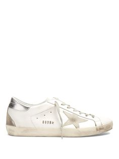 GOLDEN GOOSE Super Star Low-Top Leather Trainers. #goldengoose #shoes #sneakers