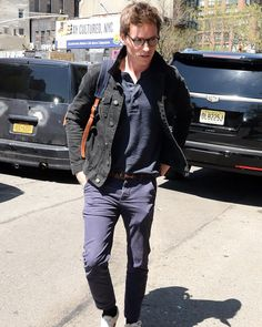 """[Open w/ Mr. Redmayne]: I was running a little late this morning. I threw some clothes on and ran out of the house with my glasses on. I ran to my classroom, colliding with someone. Papers went everywhere. """"Shit. I'm sorry."""""""