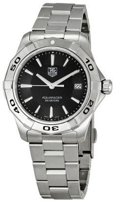 5d5dc059e01 TAG #Heuer Men's WAP1110.BA0831 Aquaracer Black Dial Watch Watches For Men,  Wrist