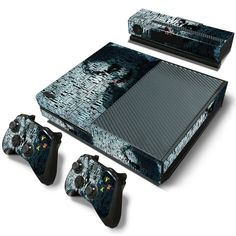 Most Wicked PVC Skin Sticker For Xbox One Console,Controller and kinect. High quality vinyl sticker for Xbox One. Covers front side, left side, right side and 2 remote controllers. Digitally designed