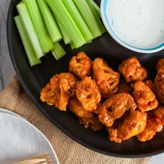 These Buffalo Cauliflower Bites are gluten-free and easily made vegan by removing the egg!