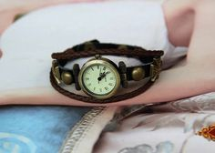Leather wrist watchVintage watchLady watchmen by BeautifulShow, $16.99