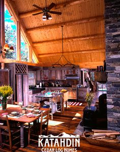 rustic log home living at its best!