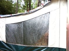 Make your popup comfy and organized, insulation for popup camper windows.