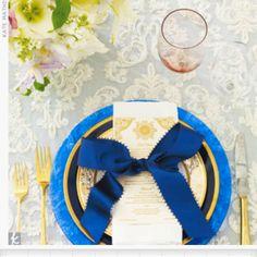 Royal Blue Wedding Programs