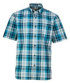 RedHead Poplin Plaid Woven Shirt for Men - Surf - XL