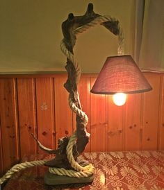 Unique Driftwood light table wooden lamp by JasonLab on Etsy