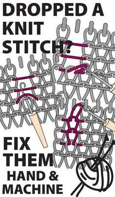 Knitulator sucht #Stricktricks: #Maschenaufhäkeln #Maschenretten #Masche #gefalleneMasche