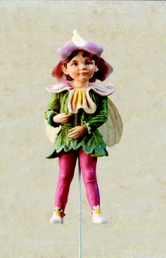 Retired Cicely Mary Barker Eyebright Flower Garden Fairy Ornament Figurine NIB