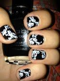 White or Black Lace Vinyl Nail Decals by LongChanged on Etsy, $5.00