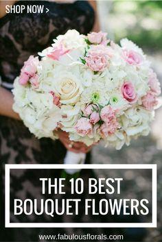 2017 BOUQUET trends! www.fabulousflorals.com The #1 source for wholesale DIY wedding flowers! #pinkbouquet #diyflowers #giantbouquet #silverbouquet #succulentbouquet
