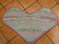 Rag Rug Heart and Border (Parts 1-4) - YouTube