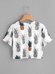 Pineapple Print Random Tee