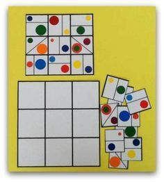 Sudoku for kids with geometric shapes Math Games, Learning Activities, Toddler Activities, Kids Learning, Montessori Math, Preschool Activities, Visual Perceptual Activities, Math For Kids, Teaching