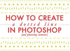How to create a dotted line in photoshop. Photoshop tips. Nordic360.