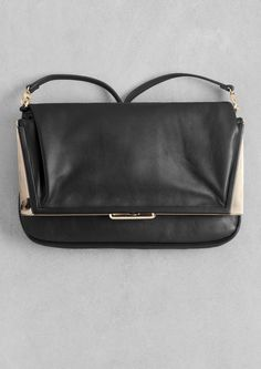 & Other Stories | Fold-Over Leather Bag