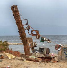 The Boom and Bust of Bombay Beach, Salton Sea, California.