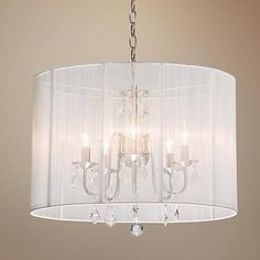 Artcraft Claremont White 17 Wide Oval Nickel Chandelier -lamps plus Closet Chandelier, Drum Shade Chandelier, White Chandelier, Chandelier Ideas, Large Chandeliers, Candelabra Bulbs, Dining Room Lighting, Interior Lighting, Lighting Ideas