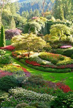 Portrait photo of Butchart Gardens, Vancouver Island