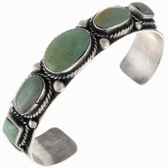 Handmade Turquoise Bracelet Old Pawn Style Cuff