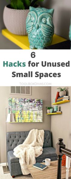 Give your home bonus rooms without drastically changing its footprint. Get the most out of your home with a little creativity. Transform that unused space in your home with these 6 steps. Create a reading nook. @Toolboxdivas @Homedepot  #Toolbox Divas #Homedepot #Sponsored #Furniture #interiordesign #Readingnook #smallspaces via @Toolboxdivas