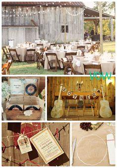 Rustic cranberry wheat wedding