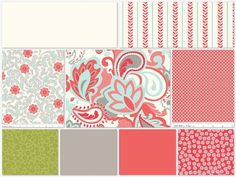 Coral and Bluish Gray