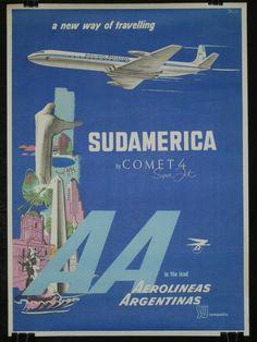 AEROLINEAS ARGENTINAS VINTAGE- Argentine airlines vintage