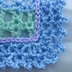 Picot Style Crochet Edging. Included in Free crochet edging tutorials.