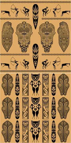 Ethnic african ornaments vector