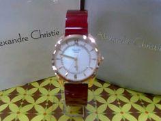 JAM TANGAN ALEXANDRE CHRISTIE WOMEN 2458 LH ROSE RED ORIGINAL #jamtangan #alexandrechristie #original