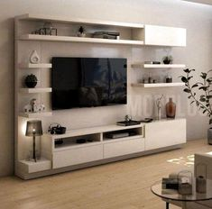 These ideas demonstrate how to create comfortable seating areas and very attractive and functional living room designs. Modern living rooms with the TV feature family friendly atmosphere and offer wonderful spaces for entertaining or rest. Living Room Tv Unit Designs, Living Room Sofa Design, Home Room Design, Living Room Modern, Home Living Room, Modern Tv Room, Tv Living Rooms, Tv Wall Unit Designs, Tv Stand Ideas For Living Room