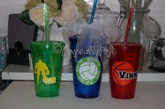 hockey, volleyball, basketball acrylic tumbler - personalized  www.facebook.com/PersonallyPoshByBethanie
